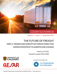 Front cover of the new Future of Freight (Part A) report from CESAR