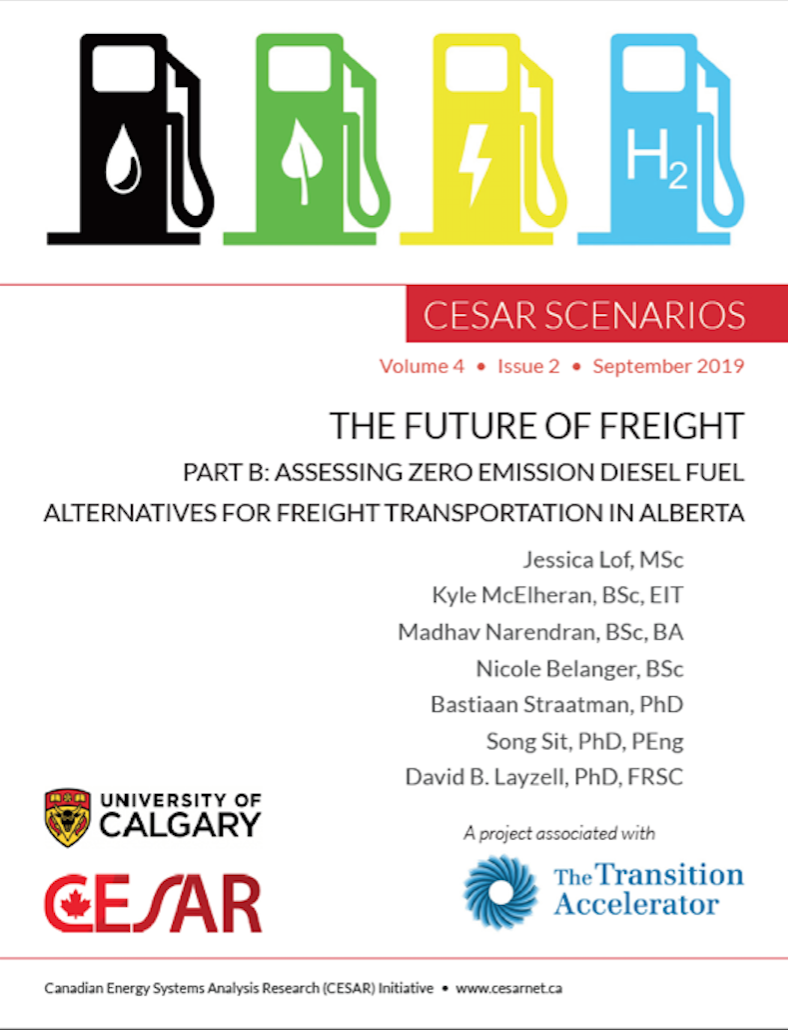 Front cover of the new Future of Freight (Part B) report from CESAR